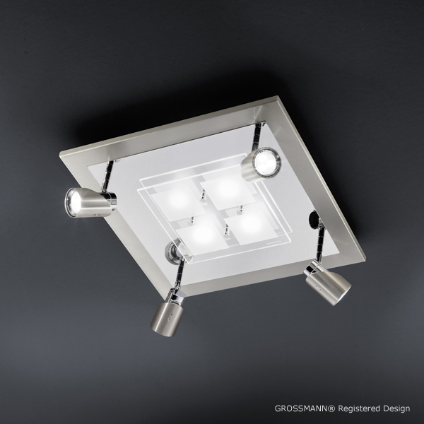 Luminaire Grossmann 75272063 5 Élégant Luminaire Plafonnier Led Kdh6