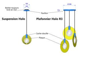 schema halo plafonnier