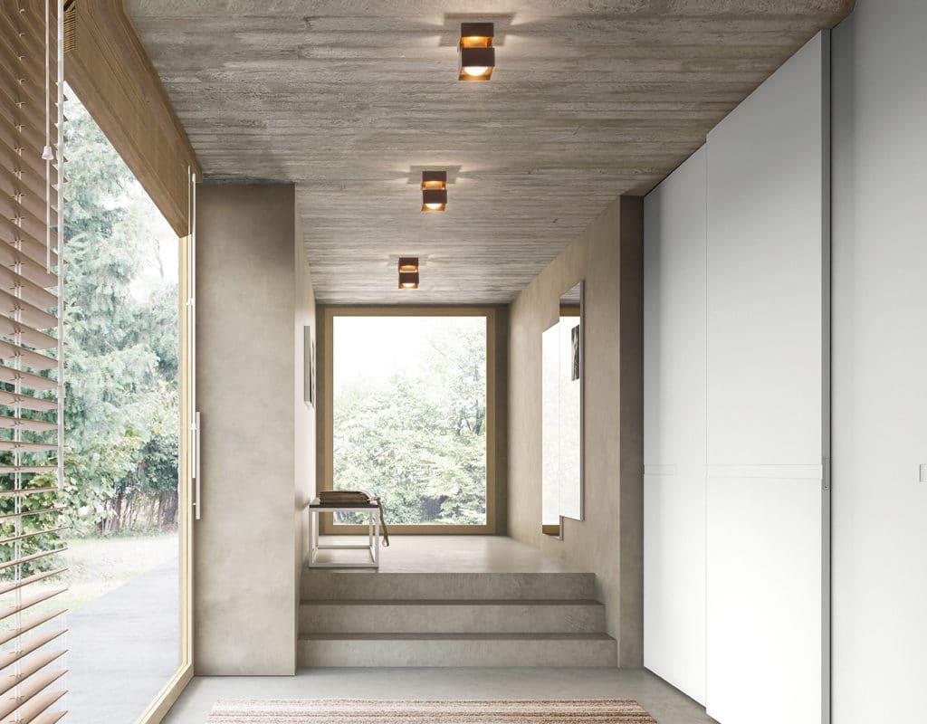 couloir plafonnier