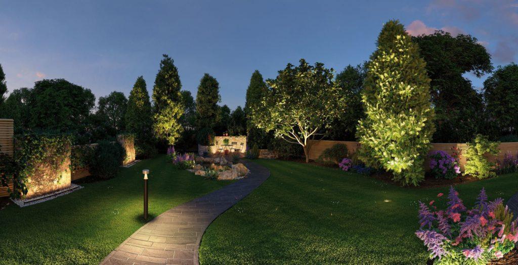jardin eclairage