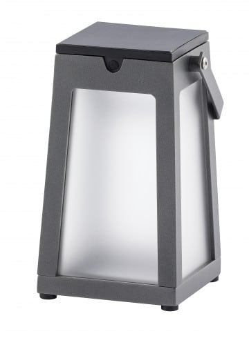 lampe solaire gris anthracite