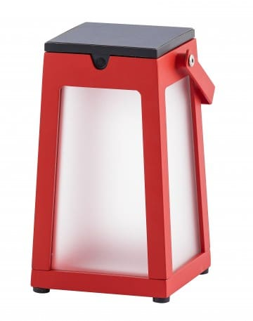 lampe solaire rouge