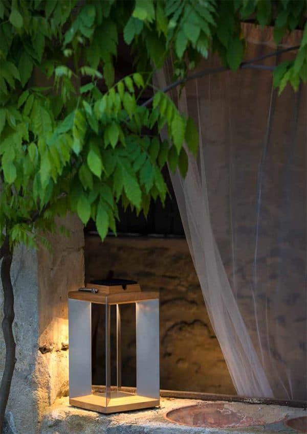 lampe solaire porta teck